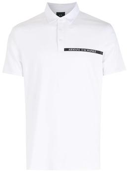 Armani Exchange рубашка поло с логотипом на груди 3KZFHAZJE6Z