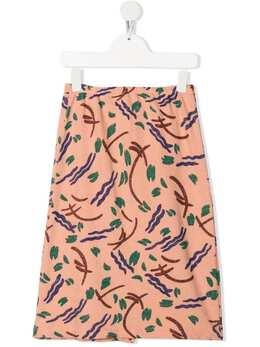 Bobo Choses юбка А-силуэта с абстрактным принтом 121AC091