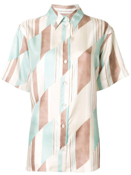 Jil Sander рубашка с короткими рукавами и геометричным принтом JSCR600405WR282760