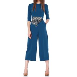 Dior Blue Oblique Canvas and Leather Saddle Belt Bag 411755