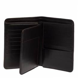 Louis Vuitton Brown Leather Compact Wallet 412640