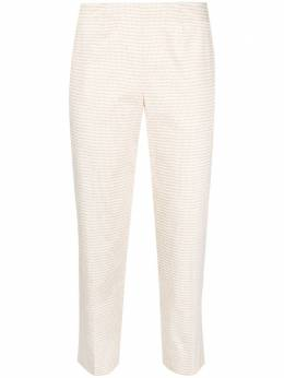 Piazza Sempione zig-zag print cropped trousers PP315S3554