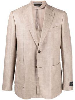 Z Zegna однобортный пиджак с заостренными лацканами 9507571VRUG0