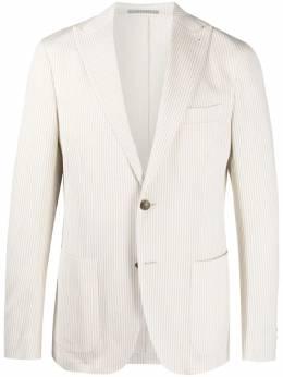 Eleventy полосатый пиджак с заостренными лацканами C70GIAA05BOTTES0C116