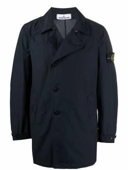 Stone Island куртка со смещенной застежкой 741543632