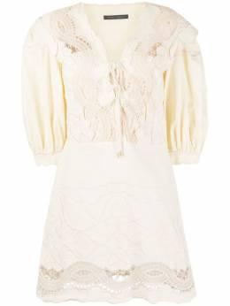 Alberta Ferretti платье на шнуровке с вышивкой A0458132