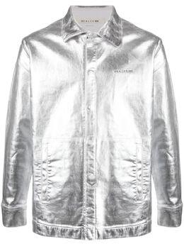 1017 Alyx 9Sm куртка-рубашка на пуговицах с эффектом металлик AAUSH0071FA03S21