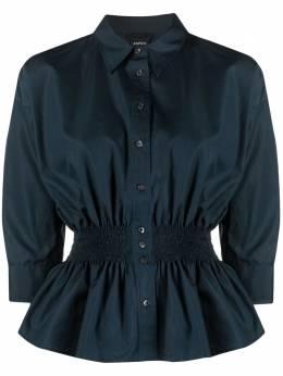 Aspesi блузка с длинными рукавами и присборенной талией 5412C118