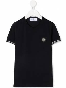 Stone Island Junior футболка с нашивкой-логотипом 741620748