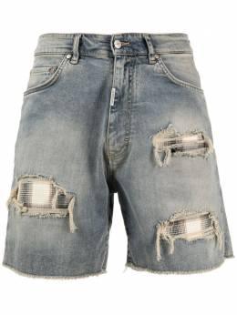Represent джинсовые шорты с эффектом потертости SS21M07061