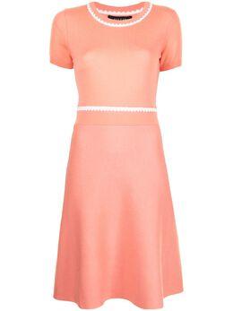 Paule Ka трикотажное платье с контрастной строчкой 400RO34
