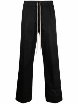 Rick Owens прямые брюки с кулиской RU21S6347TE