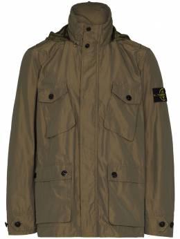 Stone Island logo-patch iridescent-effect jacket 741540922