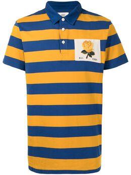 Kent & Curwen полосатая рубашка поло с нашивкой K4100067I055