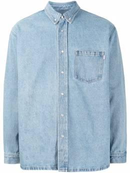 Martine Rose джинсовая рубашка с графичным принтом MR224DMR063
