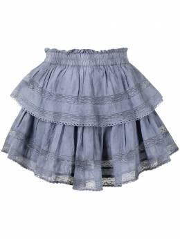Loveshackfancy юбка мини с оборками LS002289