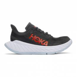Hoka One One Grey Carbon X2 Sneakers 1113526 DSFS