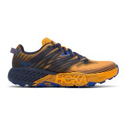 Hoka One One Orange and Black Speedgoat 4 Sneakers 1106525 SBIS