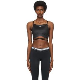 Off-White Black Strappy Athleisure Bra Top OWVO032S21JER0011000