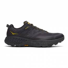 Hoka One One Black and Yellow Speedgoat 4 Gore-Tex Sneakers 1106530 ADGG
