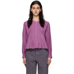 Isabel Marant Etoile Purple Okina Blouse 21PHT1974-21P018E