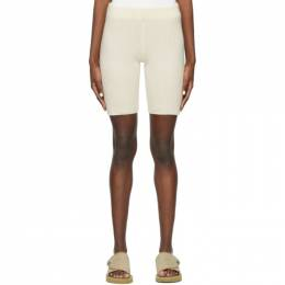 The Elder Statesman Off-White Medium Rib Bike Shorts 200467
