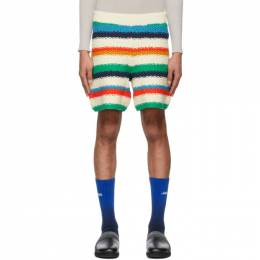 The Elder Statesman Off-White Varied Stripe Shorts 210239