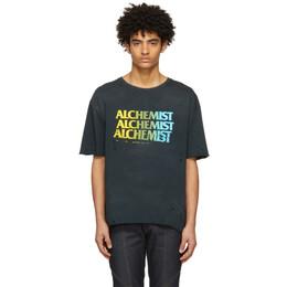 Alchemist Black Logo T-Shirt ALDRSS21MJSST03A