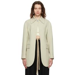 Ambush Off-White Jewel Button Suit Blazer BWEN005S21FAB0016100