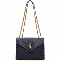 Saint Laurent Navy Quilted Small Loulou Bag 494699 DV727