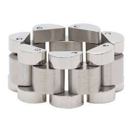 Ambush Silver Rollie Chain Ring BMOC023S21MET0017200