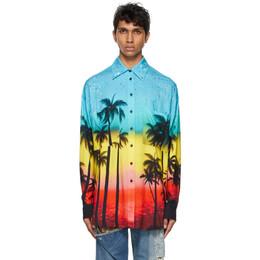 Faith Connexion Multicolor Viscose Printed Shirt EXS21210