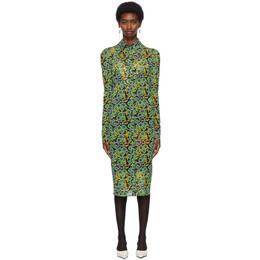 Kwaidan Editions SSENSE Exclusive Black and Green Button Down Dress SS21WD053W_PJ