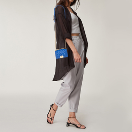 Chanel Blue Woven Lambskin Leather Paris-Versailles Mini Boy Bag 412658