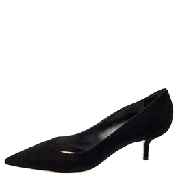 Dior Black Suede Pointed Toe Pumps Size 41 414622