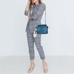 Fendi Blue Quilted Leather Dotcom Click Shoulder Bag 412695