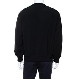 Kenzo Black Eye Embroidered Knit Oversized Sweatshirt M 414191