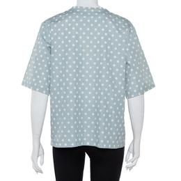 Dolce&Gabbana Grey Polka Dots Cotton Dolce Vita Calendar Girl T-Shirt L 413680