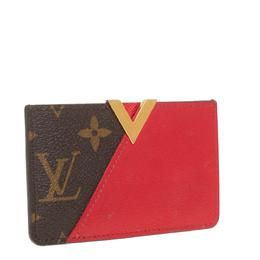 Louis Vuitton Red Monogram Canvas and Leather Kimono Card Case 413423