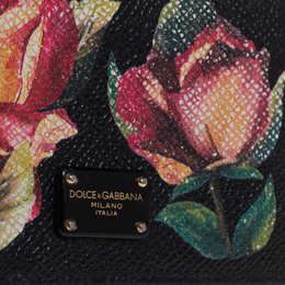 Dolce&Gabbana Black Floral Print Card Case 413978