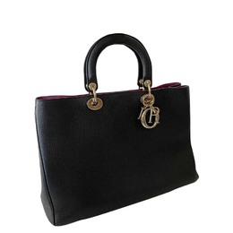 Christian Dior Black Leather Diorissimo Large Bag 414010