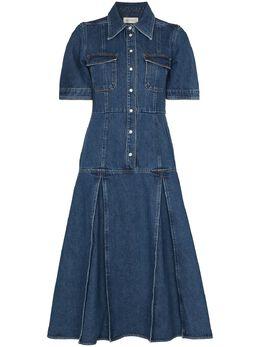Wales Bonner платье миди Saint Catherine WS21DE01DEN401D500