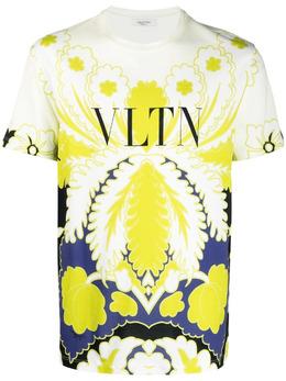 Valentino футболка с графичным принтом и логотипом VLTN VV3MG09P7B6