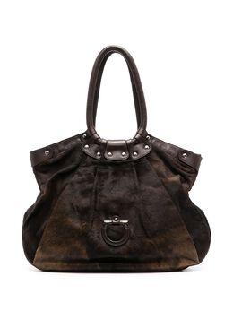 Salvatore Ferragamo Pre-Owned сумка-тоут с декором Gancini WB2274SiFbg