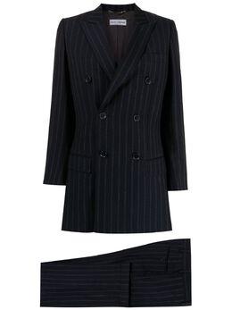 Dolce&Gabbana Pre-Owned костюм-двойка в тонкую полоску WW13477DGBL