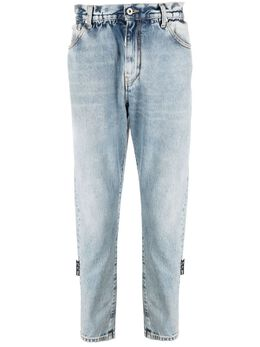 Off-White джинсы кроя слим с поясом OMYA005S21DEN0044501