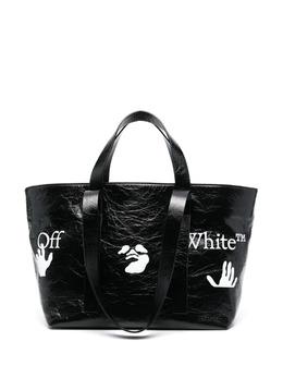 Off-White маленькая сумка-тоут Commercial OWNA143S21LEA0011001
