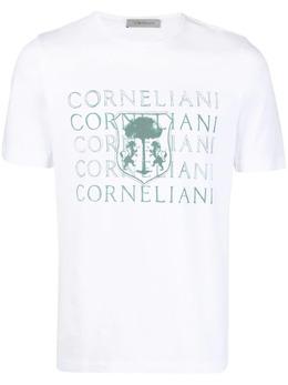 Corneliani футболка с логотипом 87G5771125040