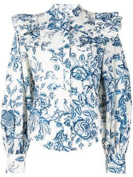 Erdem рубашка с пышными рукавами и цветочным принтом PS215902TFP