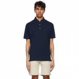 Isaia Navy Pique Polo Shirt MC0159 JP002